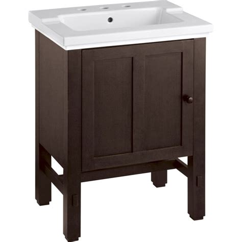 single basin bathroom vanity kohler k 2604 f69 tresham woodland single basin bathroom
