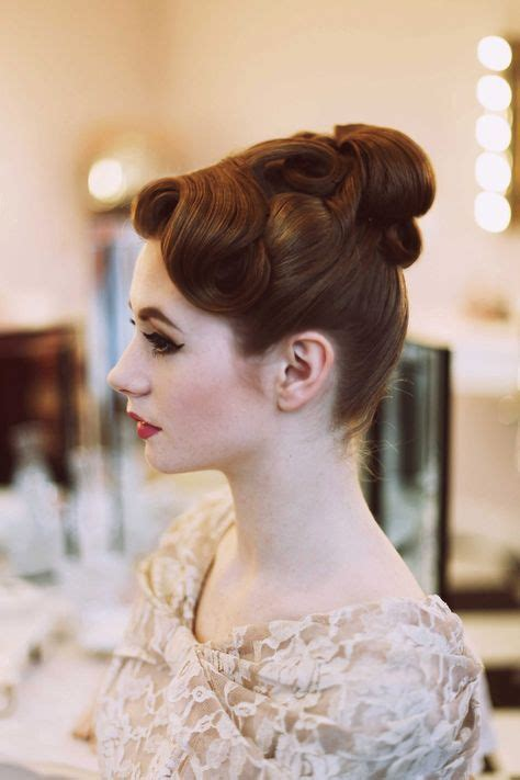 how to recreate 1950s hairstyles 1000 ideas about 1950s updo on pinterest 1950s makeup
