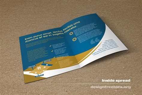 booklet brochure template free bifold booklet flyer brochure indesign template no 2