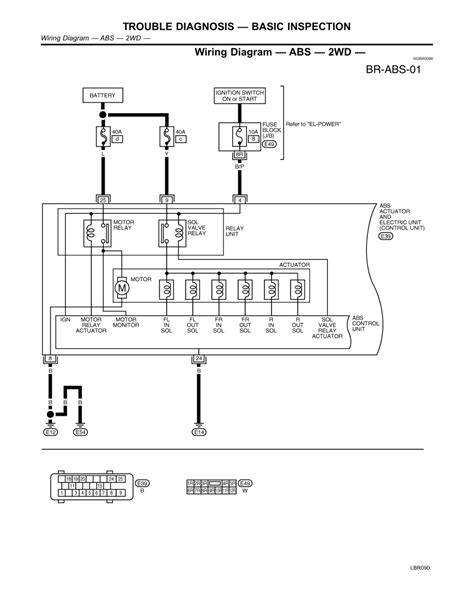 nissan abs wiring diagram 28 images repair guides
