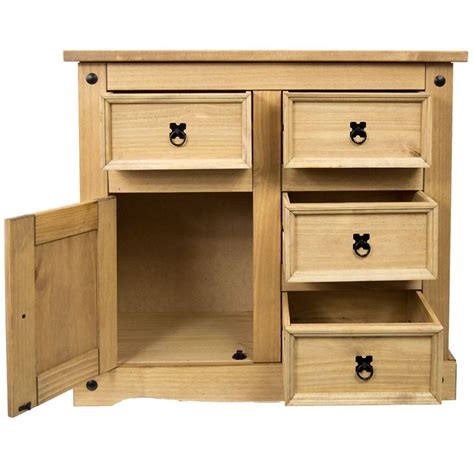 Mexican Drawer by Corona Sideboard 1 Door 4 Drawer Mexican Solid Waxed Pine