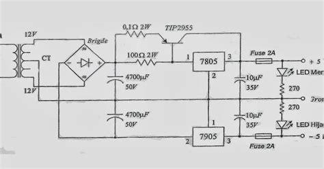 kapasitor adalah baterai the justice membuat rangkaian power supply dengan output 5v