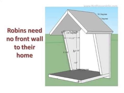 bird house plans for robins robin bird house plan youtube