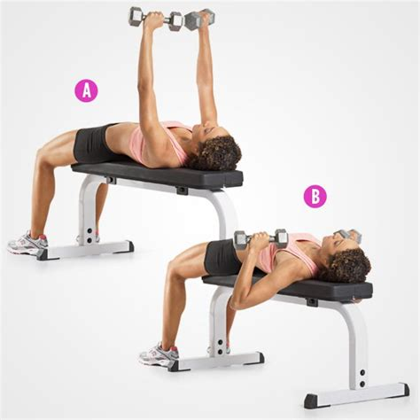 dumbbell bench workouts 4 exercises to lift your boobs