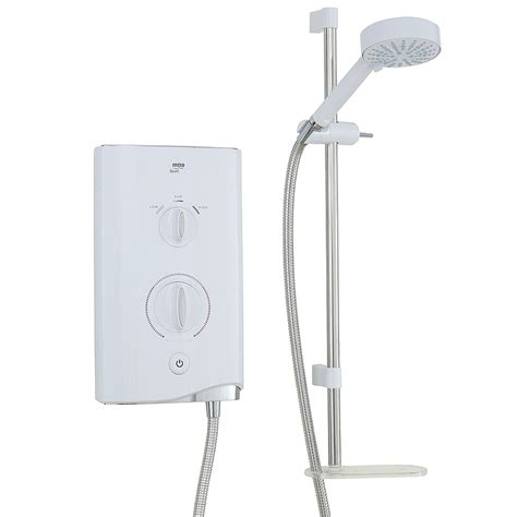 Mira Sport Multifit 9 8 Kw Shower by Mira Sport Electric Shower 9 8kw White Chrome 1 1746 003