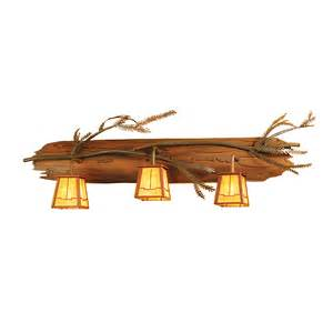 Custom Bathroom Lighting Meyda Custom 52385 3 Light Pine Branch Bathroom Light Atg Stores