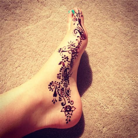 henna tattoos feet 1 foot henna check out more desings at http