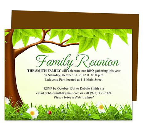Free Printable Templates For Family Reunion Invitations | celebration templates 171 ready made printable designs