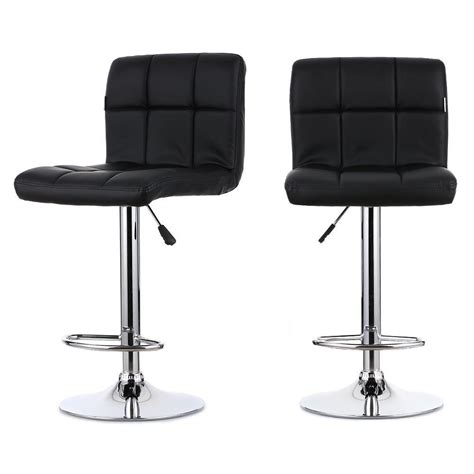 Leather Adjustable Bar Stools by 2pcs Pu Leather Swivel Bar Stools Chairs Adjustable Pub