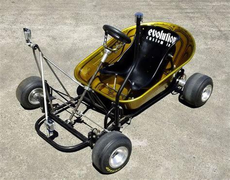 Handmade Go Kart - wheelbarrow racer waiting for a board