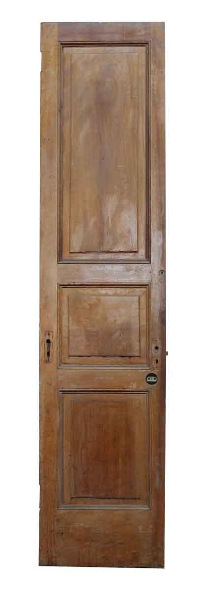antique interior doors antique narrow doors with ironwork three panel narrow wooden door olde things