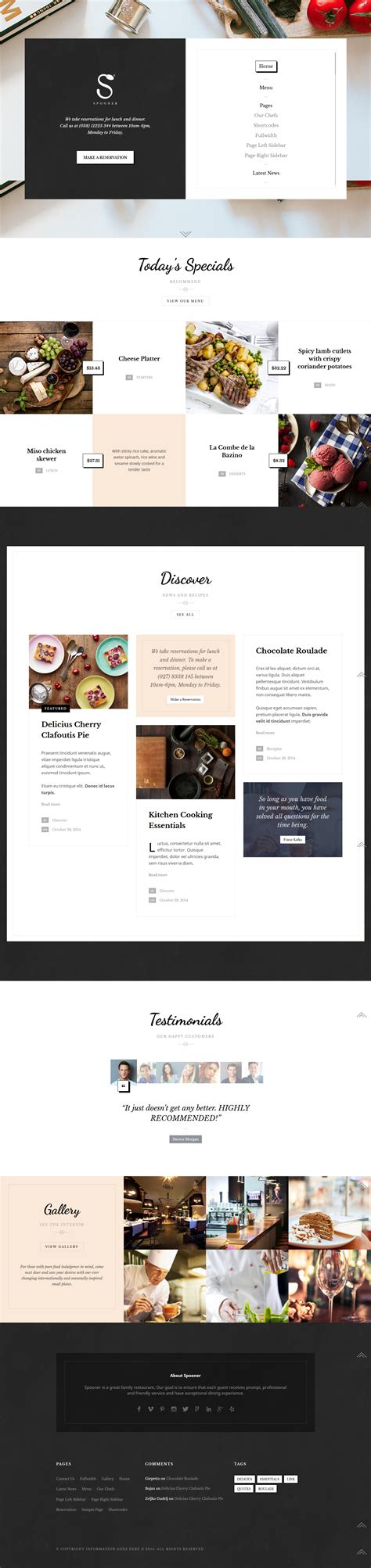 theme list download wordpress food recipe themes download premium themes