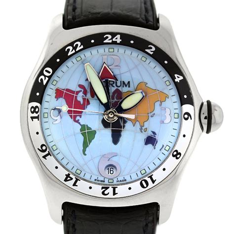 Corum XL Bubble World Dial Watch Boca Raton