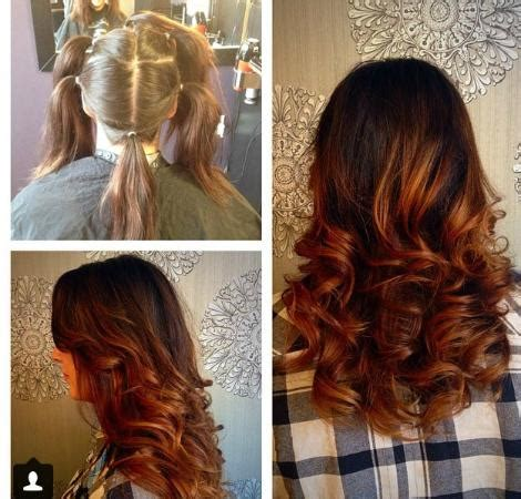 haircut deals kelowna before and after from light to bombshell red ombre