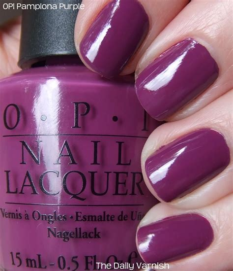 opi plona purple the daily varnish