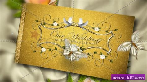 Our Precious Wedding Album After Effects Project Revostock 187 Free After Effects Templates Wedding Intro After Effects Templates