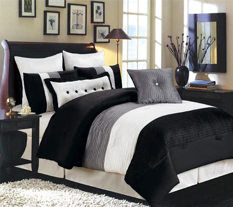 black bed set white black and grey bedding www imgkid com the image