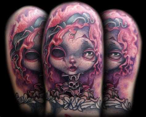 creepy tattoo creepy doll by doty tattoonow