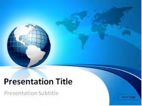 powerpoint templates world free blue 3d globe and world map powerpoint