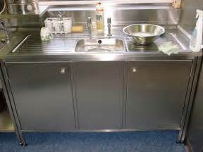 Metal Kitchen Sink Cabinet Unit Stainless Steel Kitchen Sink Cabinet Catering Kitchens 171 100 Stainless Stainless Steel