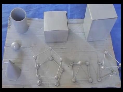 figuras geometricas hechas en cartulina diy como hacer cuerpos geom 233 tricos youtube