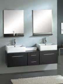 Bathroom Vanity Modern Ariel X 002 Mirage 60 Wall Mounted Dual Bathroom Vanity Modern Bathroom Vanities And Sink