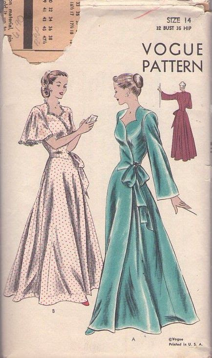 6140 Dress Fashion 237 best vintage house coats sewing patterns images on