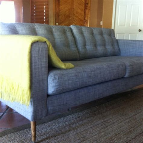 tufted couch cushions ikea tufted sofa how to tuft on your ikea karlstad
