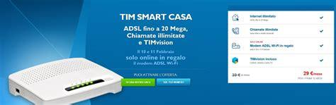tim casa tim regala il modem adsl wi fi il 10 e 11 febbraio