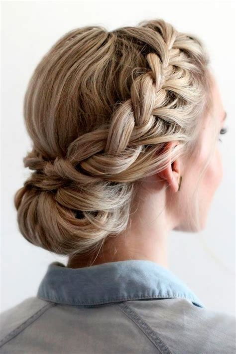 Prom Updos Hairstyles For Hair by Best 25 Braided Updo Ideas On Formal
