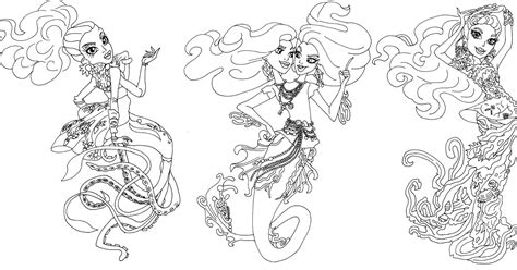 monster high coloring pages great scarrier reef free printable monster high coloring pages great scarrier