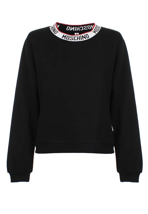 Moschino Sweatshirt moschino logo sweatshirt black in black lyst