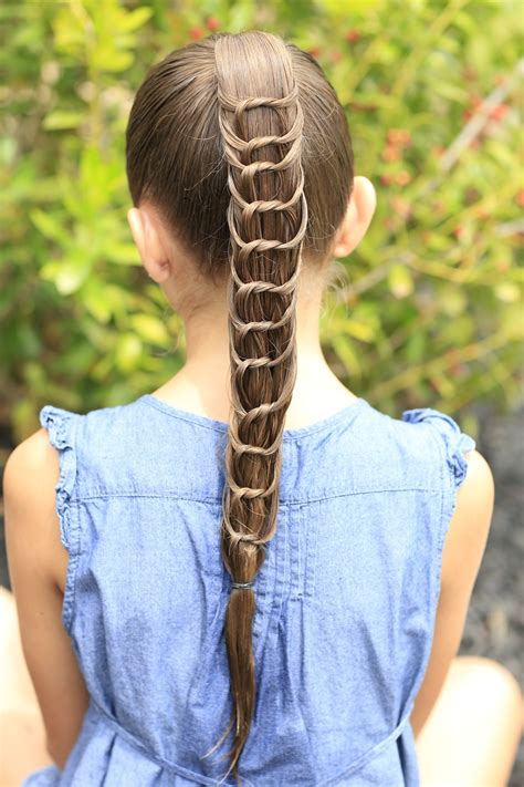 cute girl hairstyles knotted braid the knotted ponytail hairstyles for girls cute girls