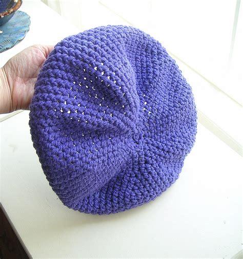 free pattern easy crochet hat crochet pattern easy slouch hat beret by graceknittingpattern