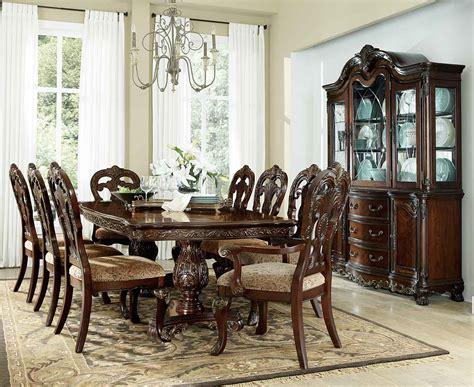 Homelegance Dining Room Furniture Homelegance Deryn Park Pedestal Dining Set Cherry 2243 114 Din Set