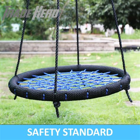 swing features spider web tree swing diameter large round nest kids ring
