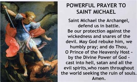 prayers to st quot st michael the archangel defend us in battle