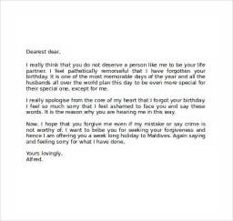 Apology Letter To Husband For Hurting Him Apology Letter 7 Free Documents In Pdf Word