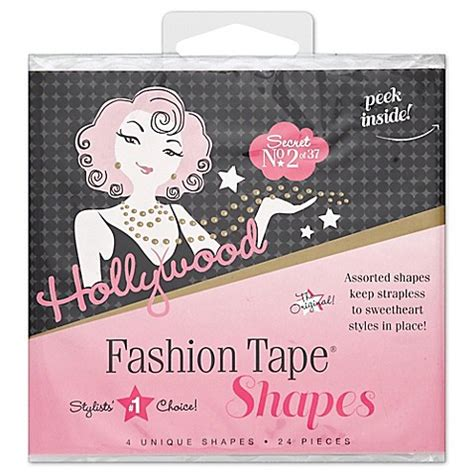 bed bath and beyond hollywood hollywood fashion secrets 174 24 count fashion tape shapes