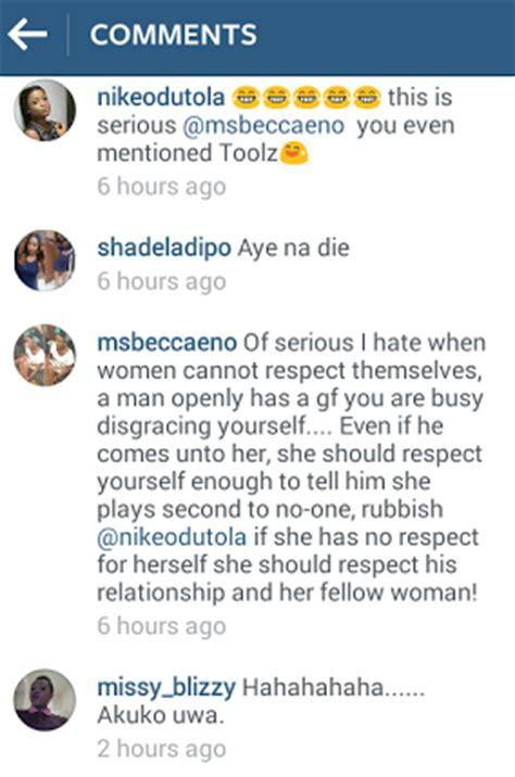 html comment section instagram drama between ladies in tunde demuren s