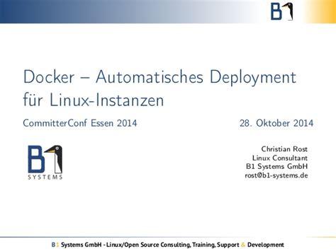 docker tutorial slideshare docker automatisches deployment f 252 r linux instanzen