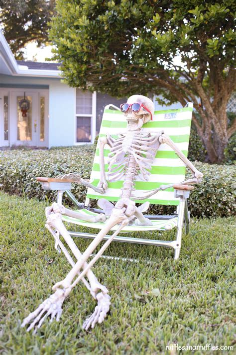 diy skeleton lawn decorations for halloween helpful homemade