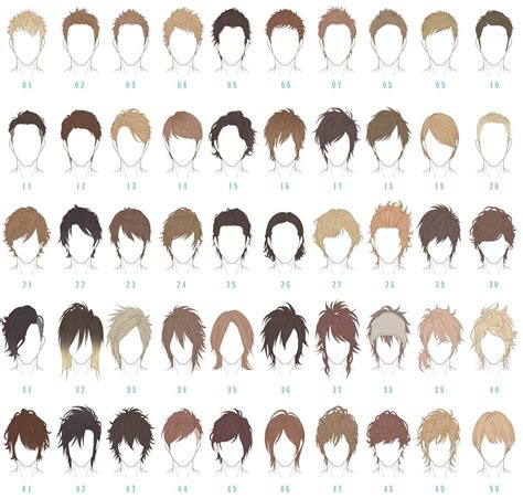 anime hairstyles with names what is the name of the haircut in number 12 and 13 of