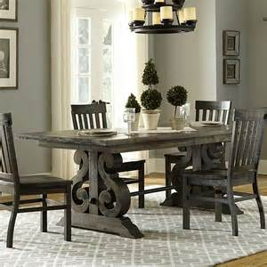 Bellamy Dining Table Magnussen Bellamy Traditional Wood Rectangular Dining Table In Pewter D2491 20t 20b Kit