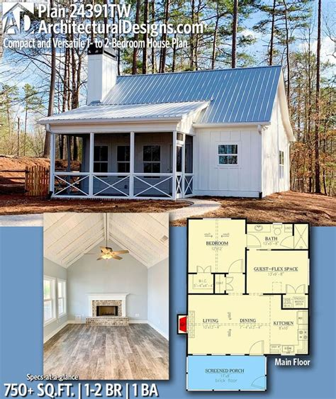 modern house plans architectural designs tiny house plan