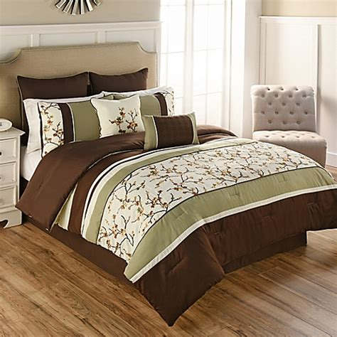 brown and green comforter buy palma 7 piece twin comforter set in green brown from