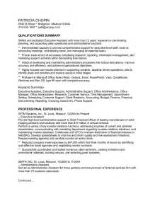 Scannable Resume Exles by Careerperfect 174 Executive Assistant Keyword Scannable Sle Resume