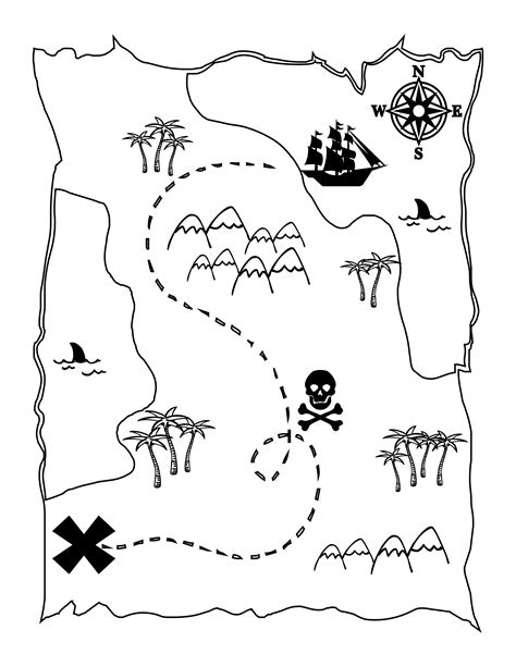 printable pirate maps printable treasure map kids activity
