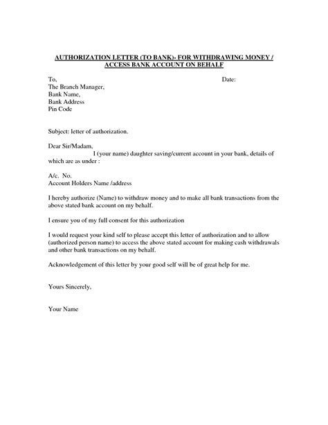 authorization letter template for business authorization letter template best car galleryformal