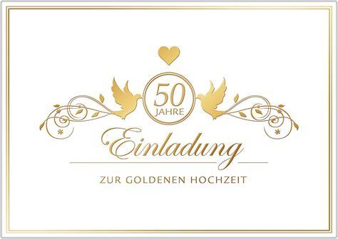 Goldene Hochzeit Einladung by Einladungskarten Hochzeit Einladungskarten Goldene